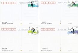 China 2018 Olympic Winter Game Beijing 2022-Snow Sports Postal Cards B - Winter 2022: Beijing