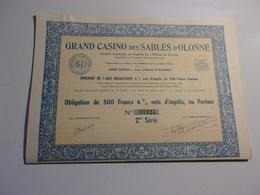 GRAND CASINO DES SABLES D'OLONNE (1941) - Unclassified