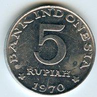 Indonesie Indonesia 5 Rupiah 1970 KM 22 - Indonésie