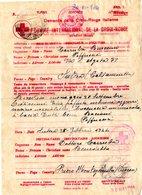 S3126 PRIGIONIERI DI GUERRA CORRISPONDENZA TIMBRO CROCE ROSSA 1944 IN ITALIA - Documenti