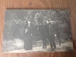 Photo Carte Militaire Et Cheval - Guerre 1914-18