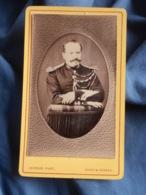 Photo CDV  Leroux à Vichy  Militaire Gendarme Maréchal Des Logis Chef  Belle Moustache  CA 1880-85 - L402 - Anciennes (Av. 1900)