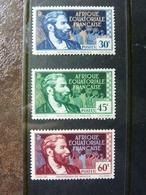 1937-1942   Savorgnan De Brazza  Y&T= 78 à 80 ** MNH  Parfait état - Ungebraucht