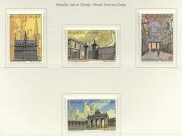 """PIA  -  BELGIO  -  1996  : Bruxelles """"Cuore De'Europa""""  - (Yv  2640-41) - Architettura"""