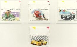 PIA  -  BELGIO  -  1996  : Centenario Delle Corse Automobilistiche A Spa - Vetture Da Corsa  - (Yv  2648-51) - Automobilismo