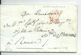 Lettre En Franchise De Paris / Ministre Des Finances ,an 6 /1797 - Postmark Collection (Covers)