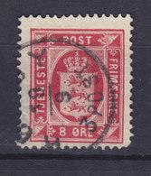 Denmark 1875 Mi. 6 Y A    8 Ø Wappen Dienstmarke Perf. 14 X 13½ - Service