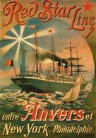 Red Star Line - AK Postcard - Affische 1893 - Steamers