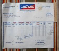 75 PARIS 16e CINZANO 54 JARNY  BONAL  Conge - Invoices
