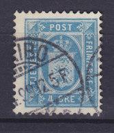 Denmark 1896 Mi. 5 Y A B    4 Ø Wappen Dienstmarke Perf. 12 ½ MARIBO Cancel - Service