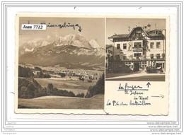 6366 AUTRICHE AK/PC/CARTE PHOTO ST JOHANN IN TIROL/HOTEL BAREN/POMPE A ESSENCE LEUNA/TTB - Austria
