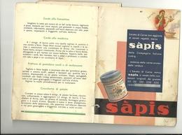 SAPIS--  LIEBG---  CON SENTENZE  TRIBUNALE  MILANO  ALL'INTERNO--RICETTARIO  ANNO  1933. IX ANNO  FASCISTA - Libri, Riviste, Fumetti