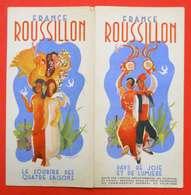 Publicité France Roussillon Illustration Lavagne Catalans Saisons Carte édit Office Départemental Du Tourisme - Advertising