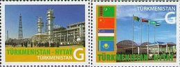 Turkmenistan 2010, China Uzbekistan, Kazakhstan Gaz Pipeline, 2v - Turkménistan