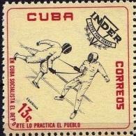 CUBA, Escrime Fencing Fechten Escrima 1 Valeur émise En 1962 ** MNH - Fencing