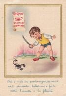 7982.   Cartolina Segno Zodiacale Scorpione - FG - NV - Cartoline