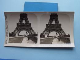 PARIS : Bas De La Tour Eiffel Pris Du Pont.... : S. 1 - 3186 ( Maison De La Bonne Presse VUES De FRANCE ) Stereo Photo ! - Photos Stéréoscopiques