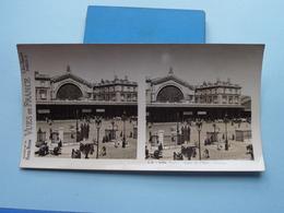 PARIS : Gare De L'Est - Entrée : S. 8 - 3254 ( Maison De La Bonne Presse VUES De FRANCE ) Stereo Photo ! - Photos Stéréoscopiques