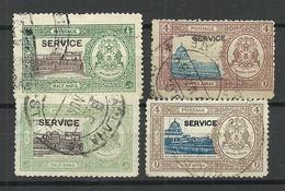 INDIA BHOPAL 1936/44 Service - Light & Dar Color Shade Dienstmarken O - Bhopal