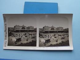 PARIS : La Gare De L'Est : S. 7 - 3253 ( Maison De La Bonne Presse VUES De FRANCE ) Stereo Photo ! - Photos Stéréoscopiques