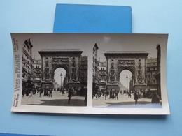 PARIS : La Porte Saint Denis : S. 6 - 3107 ( Maison De La Bonne Presse VUES De FRANCE ) Stereo Photo ! - Photos Stéréoscopiques