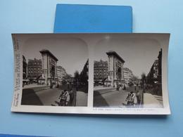 PARIS : La Porte Saint Denis Et Boulevard : S. 6 - 3286 ( Maison De La Bonne Presse VUES De FRANCE ) Stereo Photo ! - Photos Stéréoscopiques