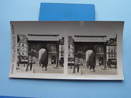 PARIS : La Porte Saint Martin : S. 5 - 3106 ( Maison De La Bonne Presse VUES De FRANCE ) Stereo Photo ! - Photos Stéréoscopiques