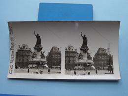 PARIS : Statue De La République : S. 4 - 3191 ( Maison De La Bonne Presse VUES De FRANCE ) Stereo Photo ! - Photos Stéréoscopiques