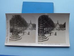 PARIS : La Place De La République : S. 2 - 3190 ( Maison De La Bonne Presse VUES De FRANCE ) Stereo Photo ! - Photos Stéréoscopiques