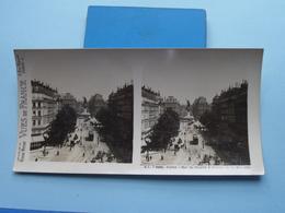 PARIS : Rue Du Temple & Statue De La Républiqu : S. 5 - 3235 ( Maison De La Bonne Presse VUES De FRANCE ) Stereo Photo ! - Photos Stéréoscopiques