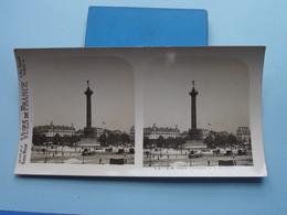 PARIS : Colonne De La Bastille : S. 4 - 3116 ( Maison De La Bonne Presse VUES De FRANCE ) Stereo Photo ! - Photos Stéréoscopiques