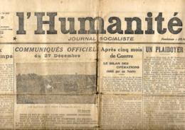 France. L'Humanité  28/12/1914 - Informations Générales