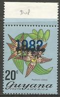 Guyana - 1982 Flowers 20c 1982 Overprint MNH **    SG 887a - Guyana (1966-...)