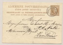 Nederlands Indië - 1881 - 7,5 Cent Willem III, Briefkaart G5 Van Weltevreden - Via Brindisi - Naar Haarlem / Nederland - Niederländisch-Indien