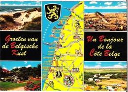 COTE BELGE - Carte De Géographie - Multi-vues - Cartes Géographiques