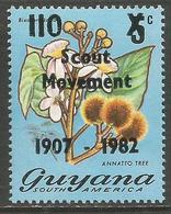 Guyana - 1982 Scout Movement 110c/5c Overprint MNH **    SG 901 - Guyana (1966-...)
