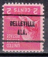 USA Precancel Vorausentwertung Preo, Locals Alabama, Belleville 713 - Estados Unidos