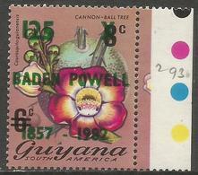 Guyana - 1982 Baden-Powell 125c/6c Overprint MNH **    SG 908 - Guyana (1966-...)