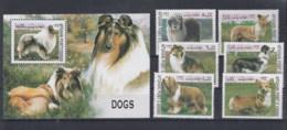 Afghanistan (BBK) Michel Cat.No. Mnh/** 1856/1861 + Sheet 109 Dogs - Afghanistan
