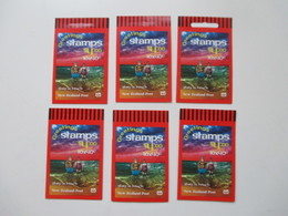 Greetings Stamps New Zealand / Neuseeland 6 Markenheftchen Mit Je 4 Dollar Nominale / Gesamt 24 Dollar - Unused Stamps