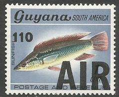 Guyana - 1981 Air 110c/1c Overprint MNH **    SG 807 - Guyana (1966-...)