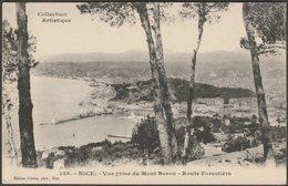 Vue Prise Du Mont Boron, Route Forestière, Nice, C.1910s - Giletta Frères CPA - Nice