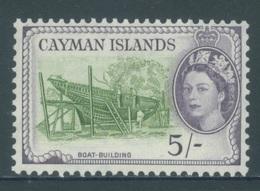 CAYMAN ISLANDS - MVLH/*. - 1953-1959 - BOAT BUILDING - Yv 152 -  Lot 18407 - Grande-Bretagne (ex-colonies & Protectorats)