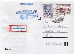 Postal History Cover: Czechoslovakia R Postal Stationery Cover With Helicopter Cancel - Czechoslovakia