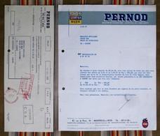 Lot 93 MONTREUIL Sous BOIS 94 MAISONS ALFORT  PERNOD  MAI 1968 - Factures