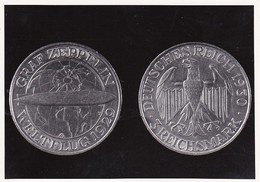 AK Foto Münze Graf Zeppelin Weltflugtag 1929 (37969) - Münzen (Abb.)