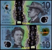 Australia $10, 2017, Polymer, Sign.9: Lowe-Fraser, AA17 Prefix - Decimaal Stelsel Overheidsuitgave 1966-...