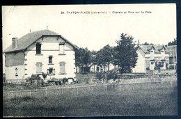 Cpa Du 44  Tharon Plage Chalets Et Pins Sur La Côte   YN34 - Tharon-Plage