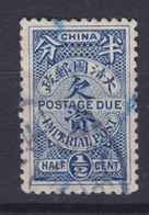 China Chine Portomarke 1904 Mi. 7    ½ C. Postage Due Imperial Post - China