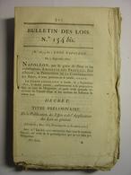 BULLETIN DES LOIS N°154 Bis De 1807 - CODE NAPOLEON Complet - Décrets & Lois